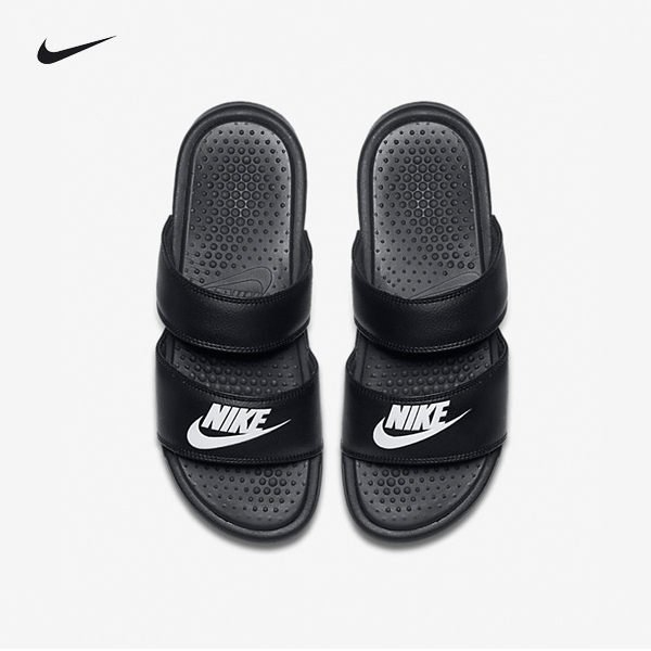 ISNEAKERS Nike Benassi Duo Ultra Slide黑白拖鞋女鞋819717-010