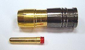 RCA 公 對 RG59 同軸電線 防水 壓接式 接頭 銅鍍金 品質最高