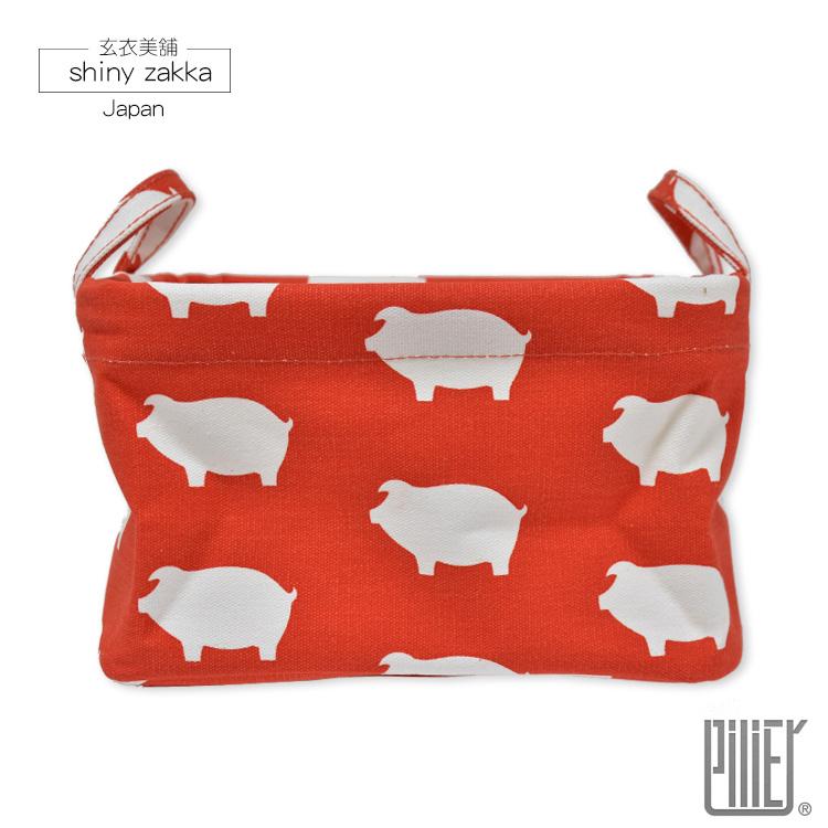 居家收納-棉麻收納箱折疊置物籃-PiliEY小豬-玄衣美舖