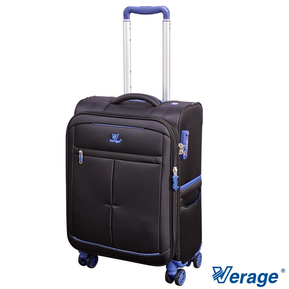 Verage 19吋超輕量經典格紋環保旅行箱三代黑
