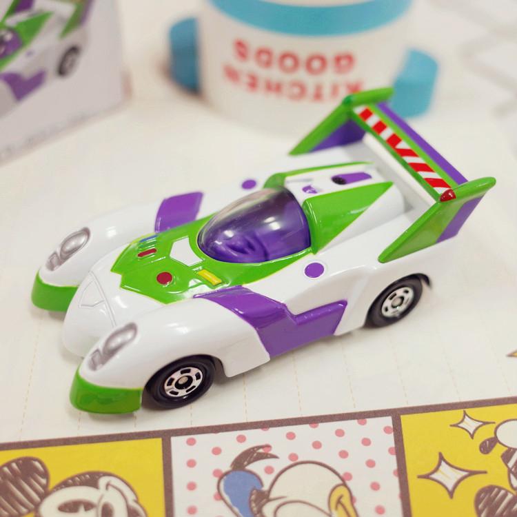 PGS7 日本迪士尼系列商品 - 樂園 限定 小車 - 巴斯光年 Buzz 賽車 玩具總動員 多美 小汽車【STD7829】