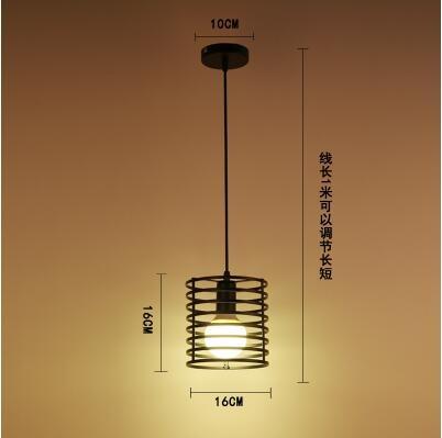 美術燈 工業風創意個性吧台鐵藝飯廳餐廳燈小吊燈罩-不含光源(圓筒款)