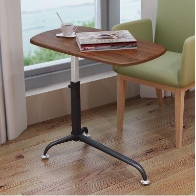 愛特屋懶人筆記本電腦桌床上用可移動床邊桌升降沙發邊幾新橡木色