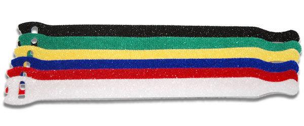 彩色萬用魔鬼氈式束線帶(一包6入)-整理收納雜亂線材 收納專家