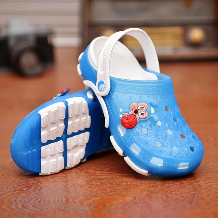 拖鞋兒童洞洞鞋男童沙灘鞋夏季女童涼鞋ღ部落男裝ღ
