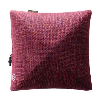 Lourdes 日式溫熱揉捏方型按摩抱枕(玫瑰紅)