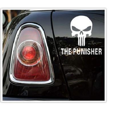 A0149懲罰者車貼車身貼紙機車貼自行車貼葉子板後窗引擎蓋遮刮痕沂軒精品