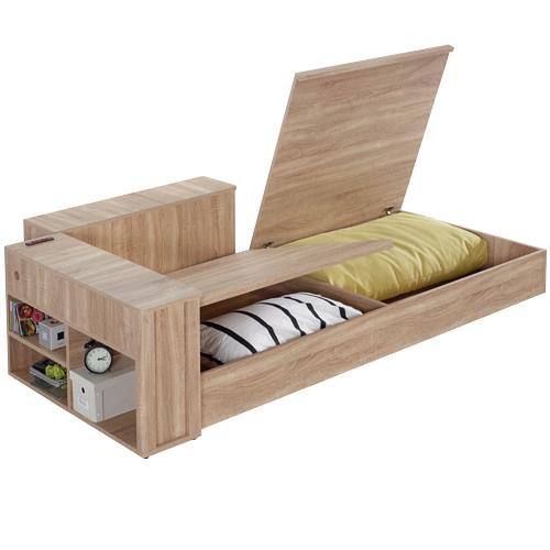 收納屋木柞單人沙發床架-三件式&DIY組合傢俱預購品