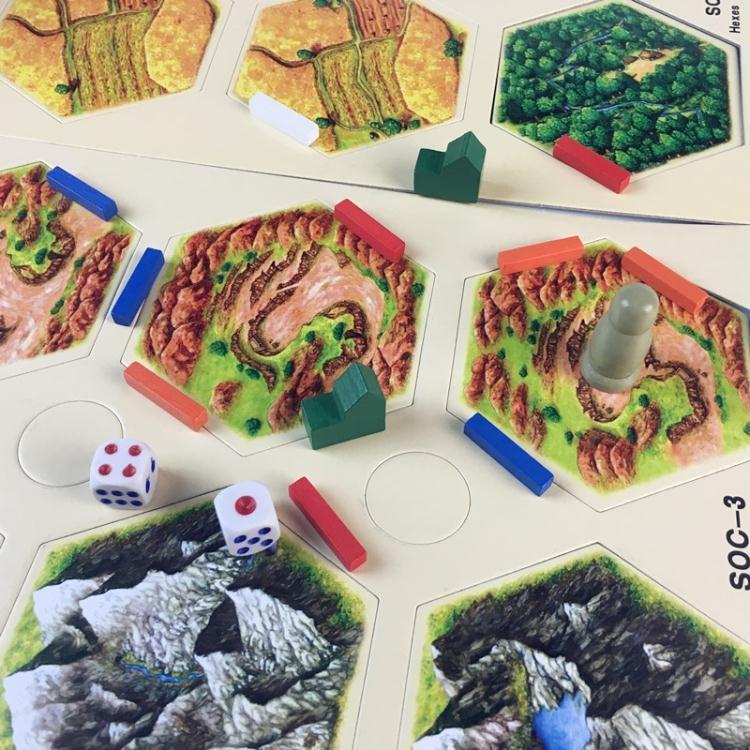 卡坦島桌游卡牌模型版第四版中文版送5-6人擴展成人休閑聚會游戲大咖玩家