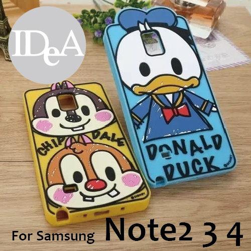 迪士尼三星Note2 3 4塗鴉系列手機殼軟矽膠保護套Samsung Galaxy Disney N2 N3 N4米奇米妮奇帝