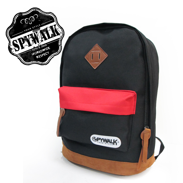 SPYWALK雙色拼貼背包NO:2192-1