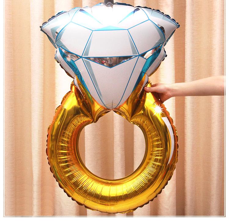 一定要幸福哦~~大鑽戒鋁箔氣球62*96公分,婚禮裝飾布置,求婚道具, 婚紗照錫箔球 生日