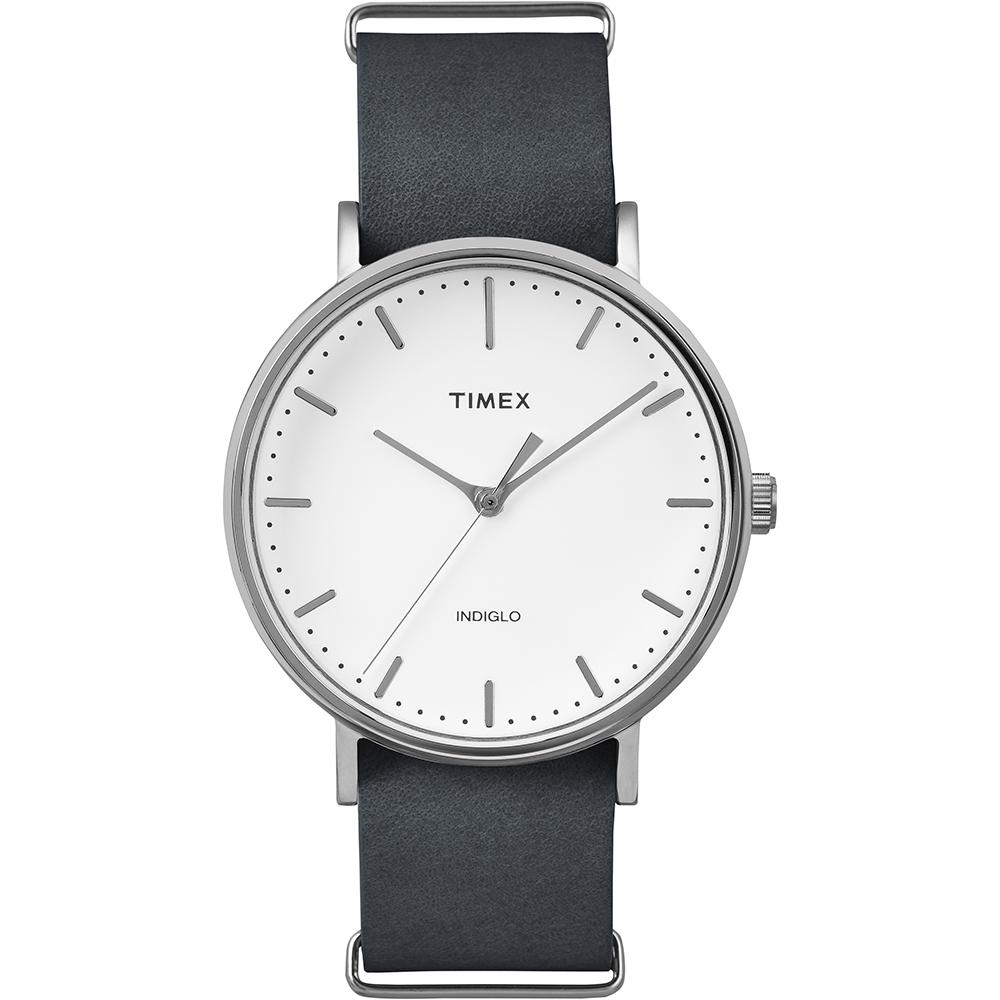 【TIMEX】天美時週末Fairfield系列時尚手錶(白/深灰 TXT2P91300)