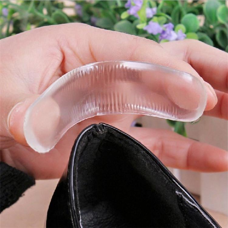 2入裝 加厚矽膠腳後跟貼墊 高跟鞋貼 腳跟墊 自黏 皮鞋 防磨 果凍貼 腳鞋墊 腳後跟貼【4G手機】