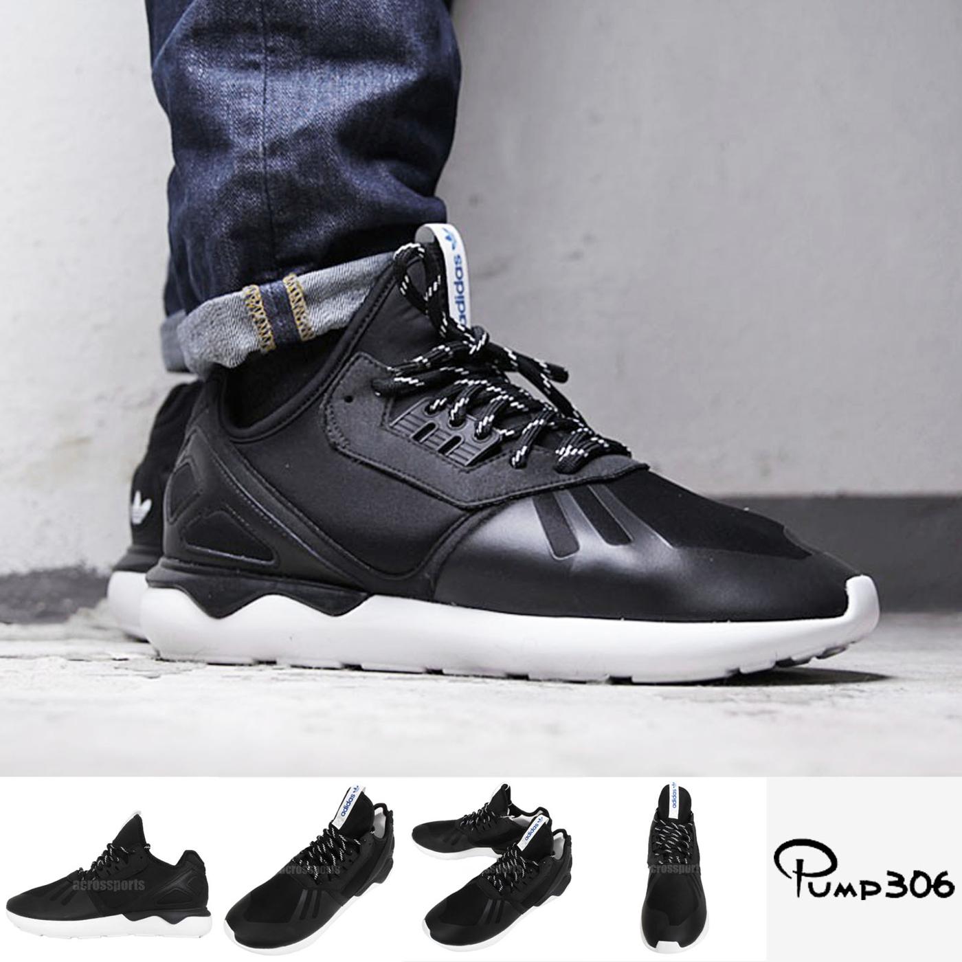 adidas休閒鞋Tubular Runner Y3武士鞋運動黑白男鞋PUMP306 M19648