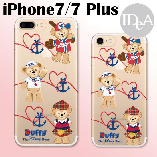 迪士尼iPhone7 7 Plus達菲熊Duffy透明TPU矽膠手機保護套果凍清水殼全包軟殼糖果日本海洋Disney SEA