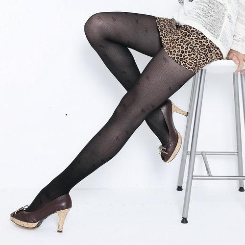 【義大利名牌】Roberta di Camerino 諾貝達, 褲襪, 幸運草花紋 款 - 普若Pro品牌好襪子專賣館