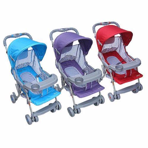 家事達Mother's Love全罩輕便嬰兒手推車-紫黑~特價