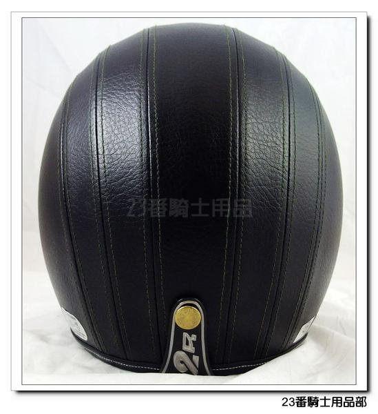 M2R 300黑超質感皮革皮帽安全帽復古帽可搭風鏡可自取