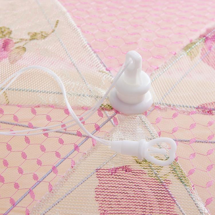 餐桌蓋菜罩 食物罩 六邊形折疊桌傘 蕾絲花邊 【緣味站】YW-25641