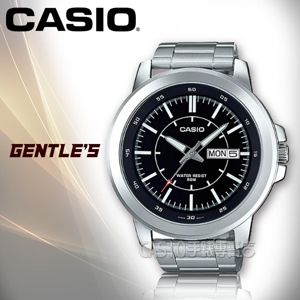 CASIO手錶專賣店CASIO手錶MTP-X100D-1E男錶指針錶不鏽鋼錶帶防水礦物玻璃