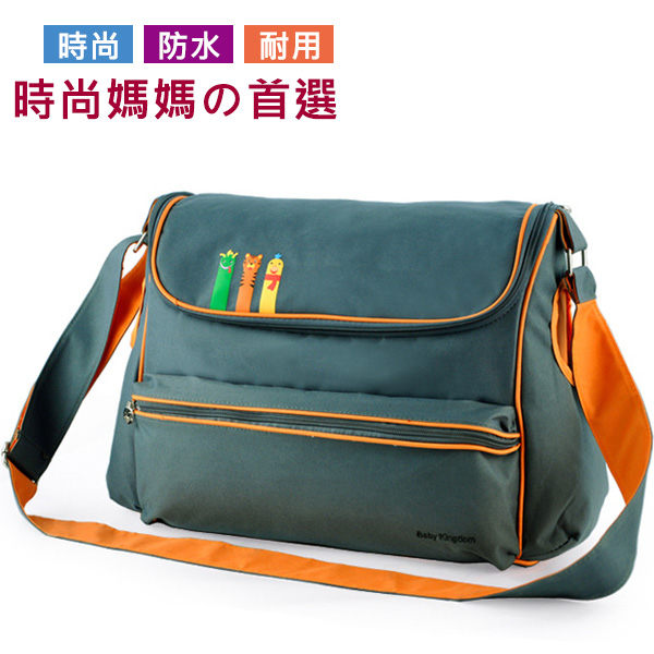 多功能多隔袋大容量防水斜背媽媽包媽咪包爸比包待產包-墨綠色