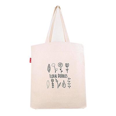 帆布袋 側背包 簡約花卉 帆布包 手提包 手提袋 環保購物袋 文青帆布包【mocodo 魔法豆】