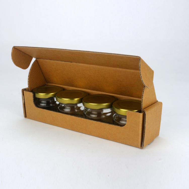 4入果醬盒(小) 素面無印刷 開窗盒 (20入裝)