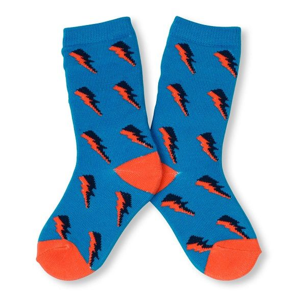 Place襪子  閃電圖案設計款藍色襪子