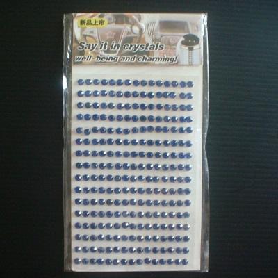 彩色鑽石貼紙寶藍-3mm-240顆水鑽水晶貼紙汽車手機貼紙