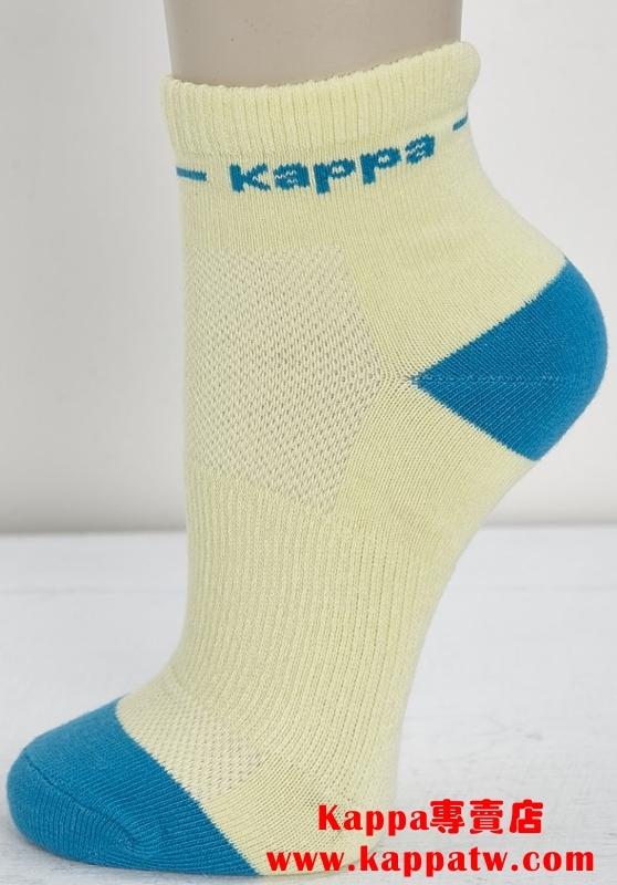 Kappa 女生短筒襪-檸檬黃/亮湖綠(薄底) SF66 -S305-2