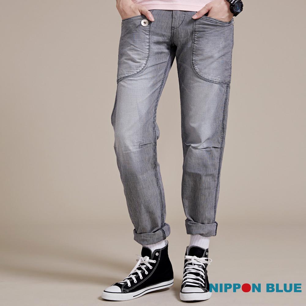 日本藍條紋多袋工作褲BLUEWAY日本藍