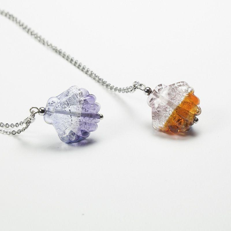 琉璃項鍊-彩虹貝殼