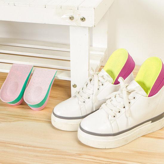 ◄ 生活家精品 ►【N85-1】雙層橡膠內增高鞋墊 男鞋 女鞋 身高 彈力 後跟 透氣 水洗 耐磨 調節