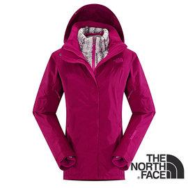 The North Face女Gore-tex羽絨兩件式外套紫紅CUF1BDV