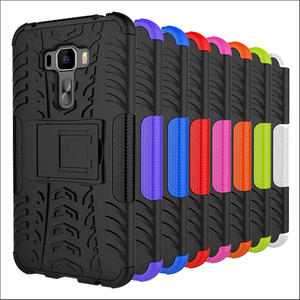 輪胎紋華碩zenfone3 5.5寸ZE552KL手機殼防摔抗震矽膠套手機套ZE552KL保護殼隱形支架保護套