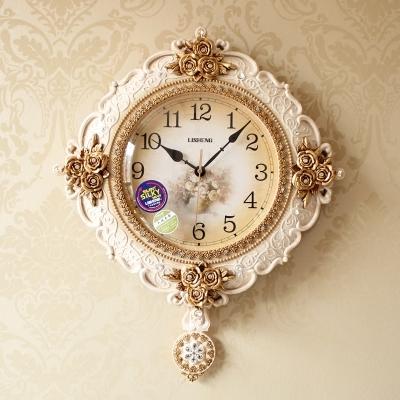 美式復古鐘表歐式掛鐘客廳靜音田園藝術擺鐘時鐘TWღ部落男裝ღ