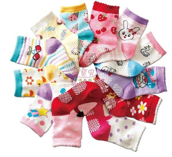 ◎愛寶貝◎X1240026本月特價25元兒童學步止滑襪12CM-15CM 約0-3歲適穿 /不挑款