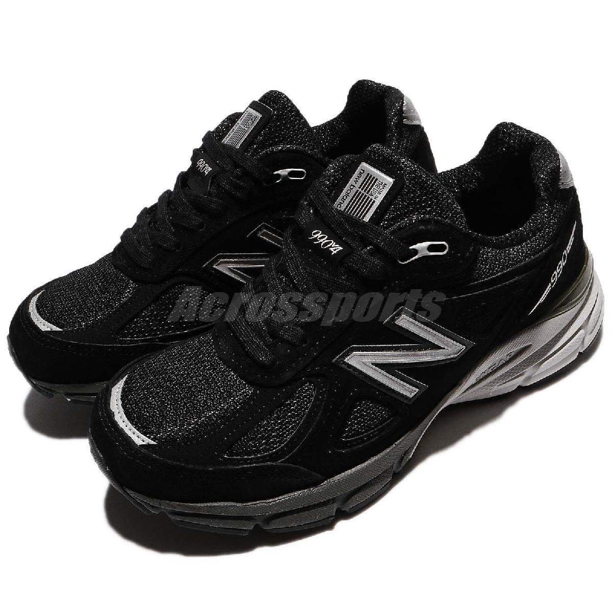 New Balance 慢跑鞋 990 NB 黑 灰 麂皮 寬楦 美國製 運動鞋 女鞋【PUMP306】 W990BK4D