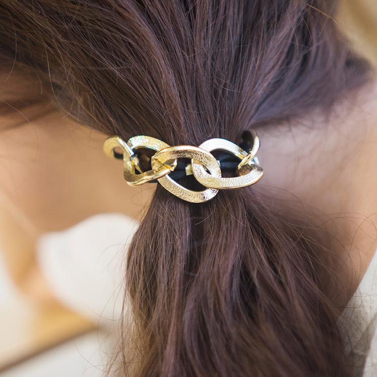 鎖鏈造型髮圈