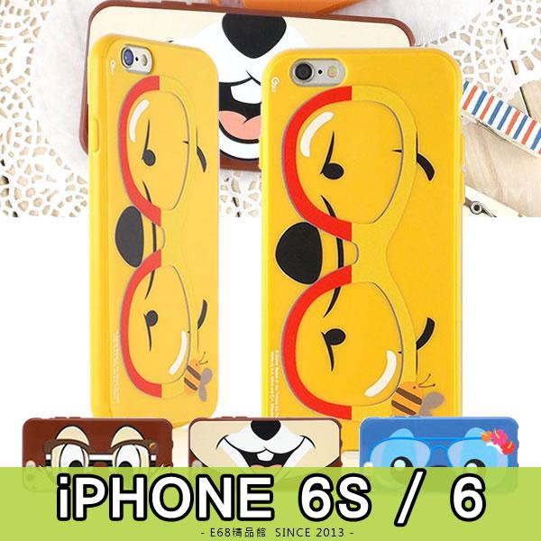 E68精品館正版迪士尼彩繪造型軟殼IPHONE 6 6S 4.7吋眼鏡奇奇史迪奇微笑嘴巴手機殼保護殼I6 I6S