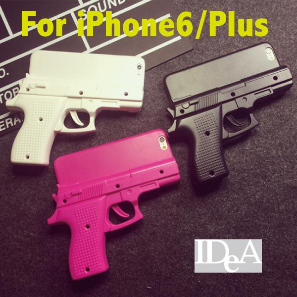 Apple iPhone6 Plus玩具造形手機殼硬殼BB槍水槍歐美風仿手槍背蓋噴火槍模型槍