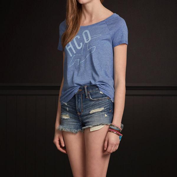 (BJGO) Hollister _女裝_PC HIGHWAY SHINE T-SHIRT 經典海鷗大圓領T恤 新品現貨S