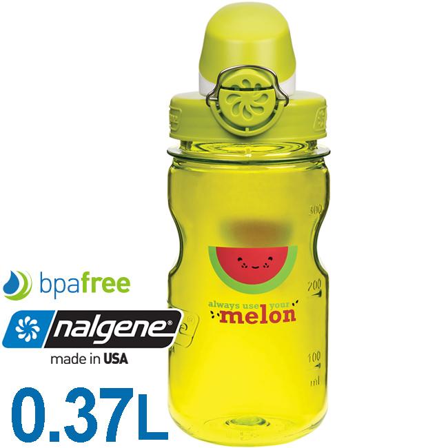 Nalgene 1263-0007西瓜375ml OTF兒童運動型水壺Bpa free無毒不含雙酚A登山健行水瓶兒童水壺