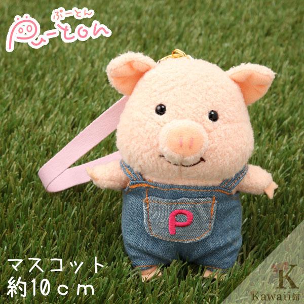 Hamee 日本 Pig童話故事系列 三隻小豬 絨毛玩偶 布偶娃娃 吊飾 (豬小弟/牛仔) 557-022515