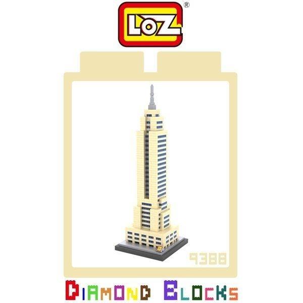 LOZ 迷你鑽石小積木 樂高式 紐約 帝國大廈 系列 益智玩具 組合玩具 原廠正版 世界建築系列