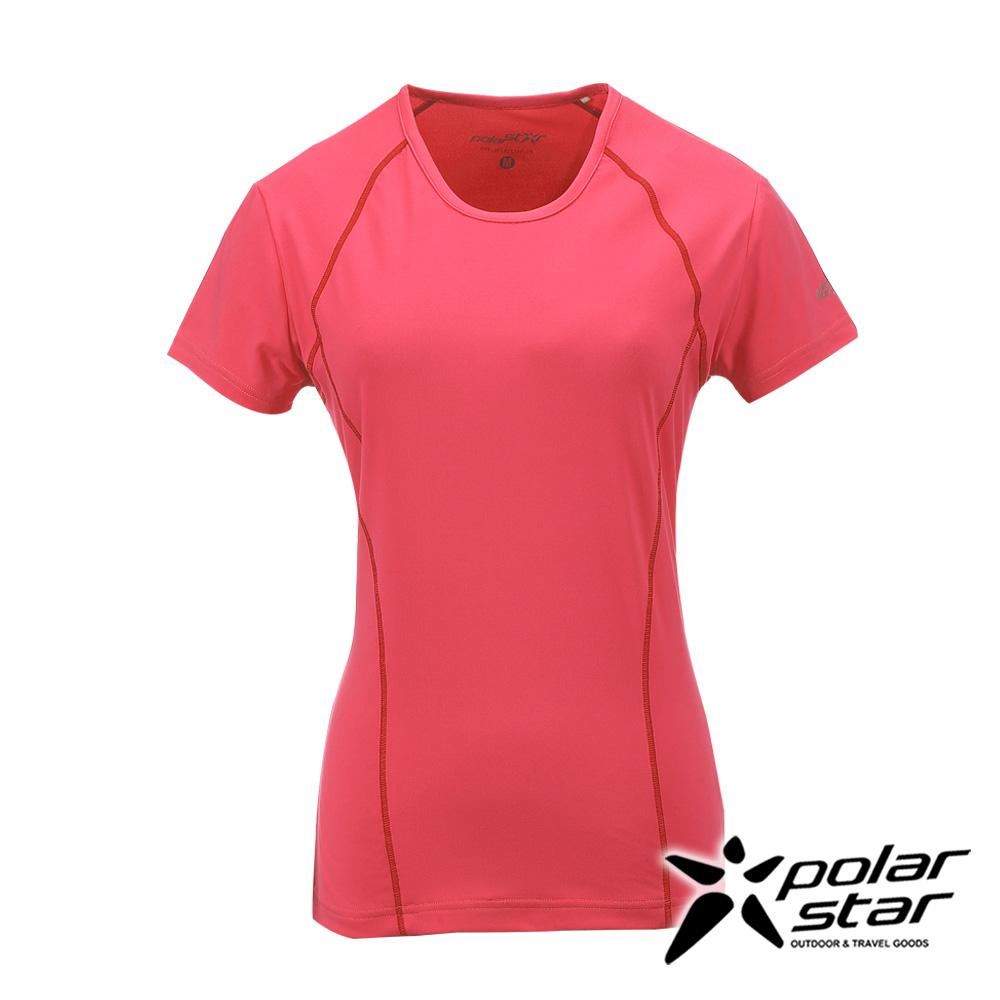 PolarStar女排汗快乾T恤桃粉紅P17130吸濕排汗透氣T-shirt短袖運動服瑜珈休閒服短袖透氣運動服