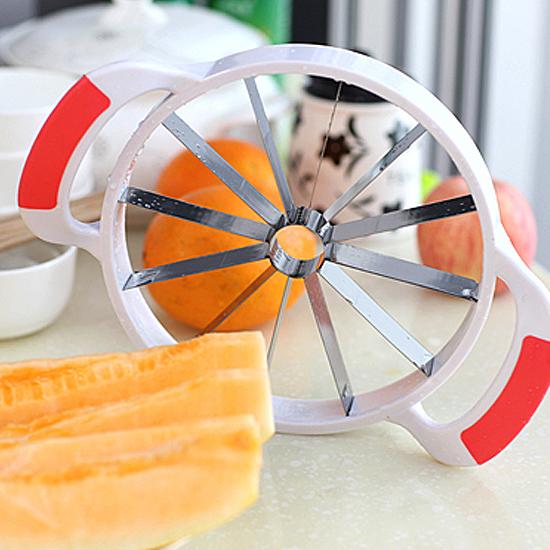 米菈生活館T30多功能不鏽鋼水果切片器哈密瓜切片水果分割去核切果不沾手廚房