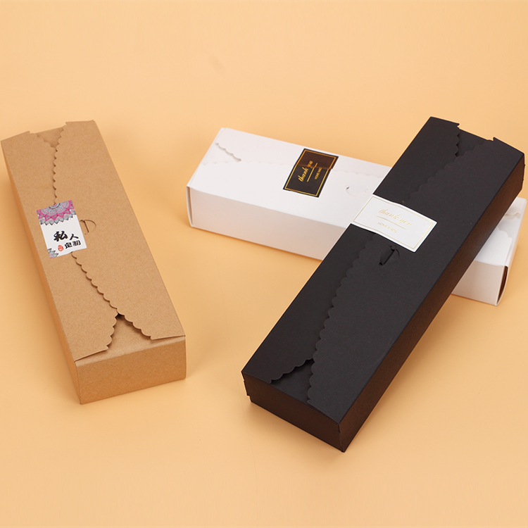 長條花邊牛皮紙盒 烘焙包裝 禮品包裝 月餅盒 餅乾禮品 蛋糕西點盒 牛軋糖喜糖盒 外帶盒馬卡龍