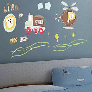 壁貼兒童房設計佈置布置兒童獅子直升機客廳餐廳臥室教室裝潢佈置牆貼Life Beauty